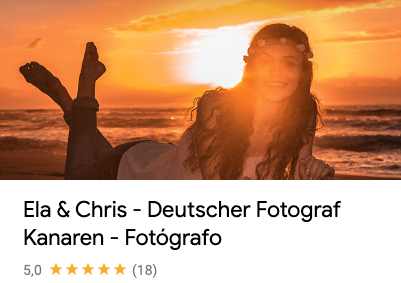 Referenzen und Bewertungen von Deutscher Fotograf Kanaren sind von jeher exzellent