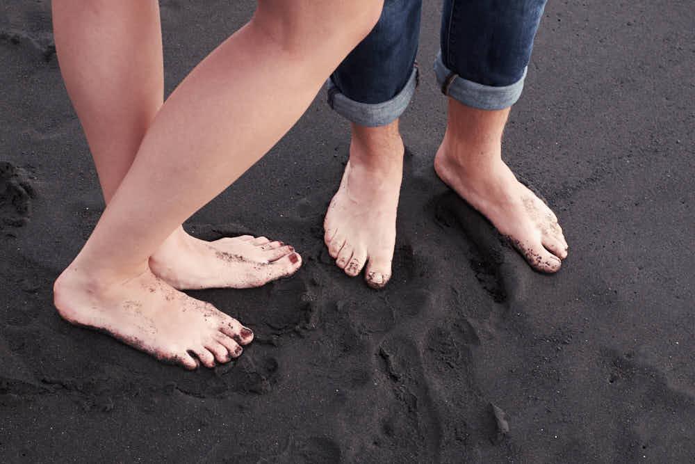 Deutscher Fotograf Kanaren mit einem Paar zum Shooting an der Playa del Duque auf Teneriffa