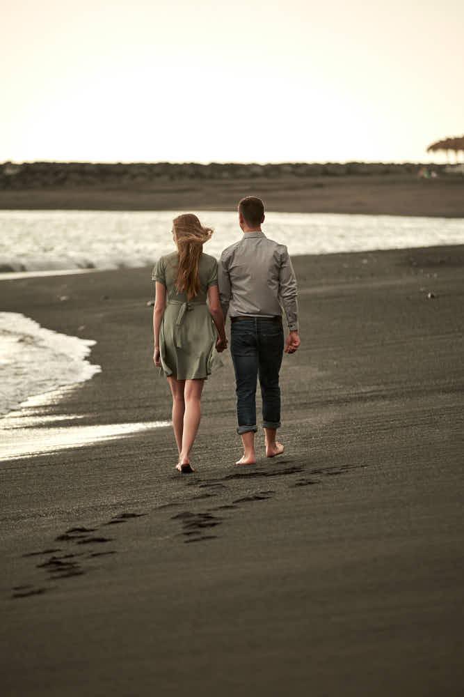 Mit Ela und Chris hat dieses Paar ein Shooting gemacht an der Playa del Duque