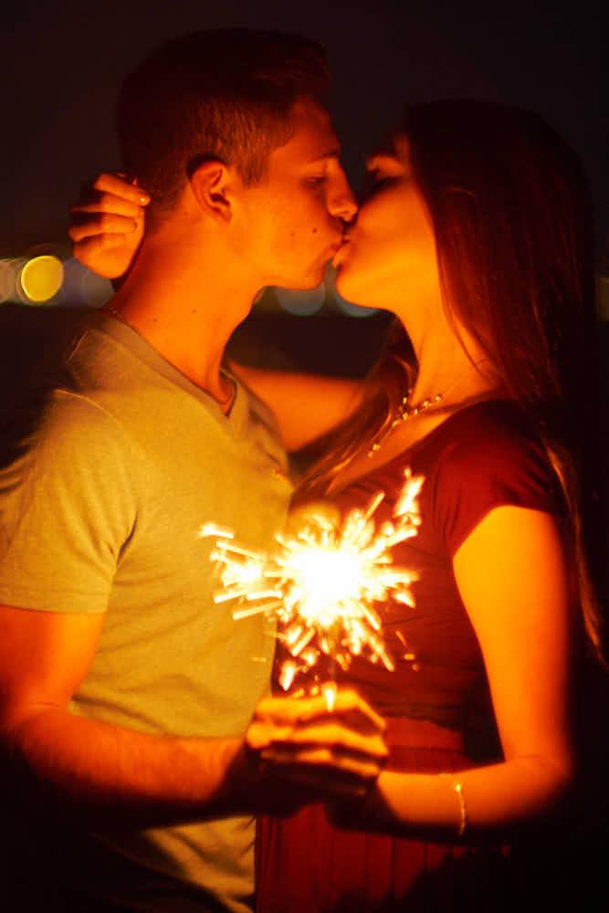 Romantische Bilder mit diesem Paar waren ein Genuss