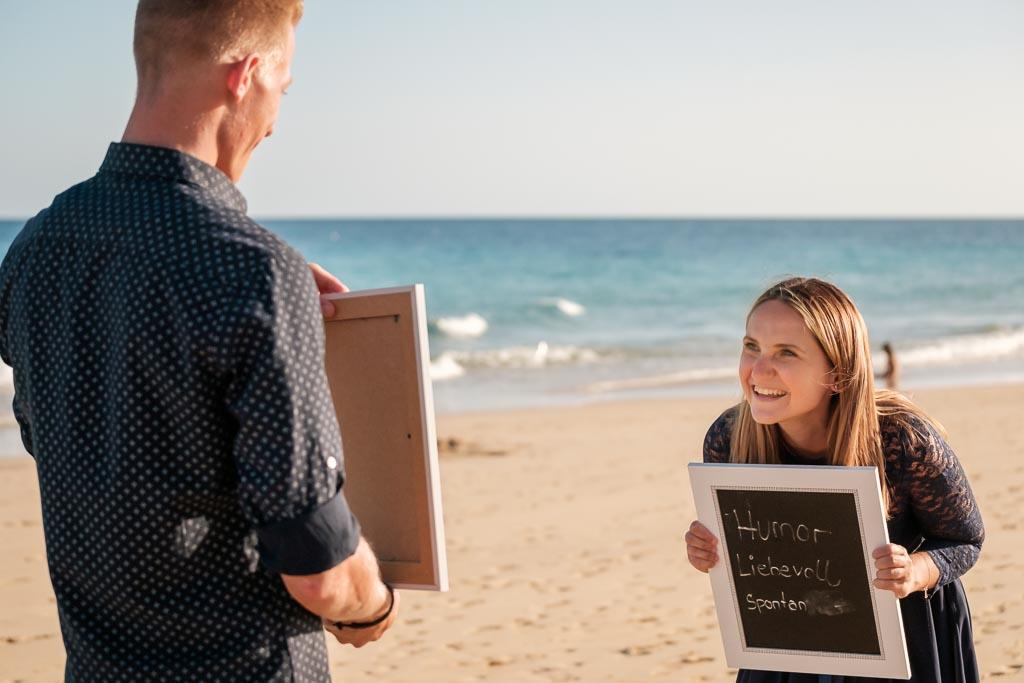 Ela & Chris arrangieren Shooting Überraschung auf Fuerteventura an der Playa de Jandia