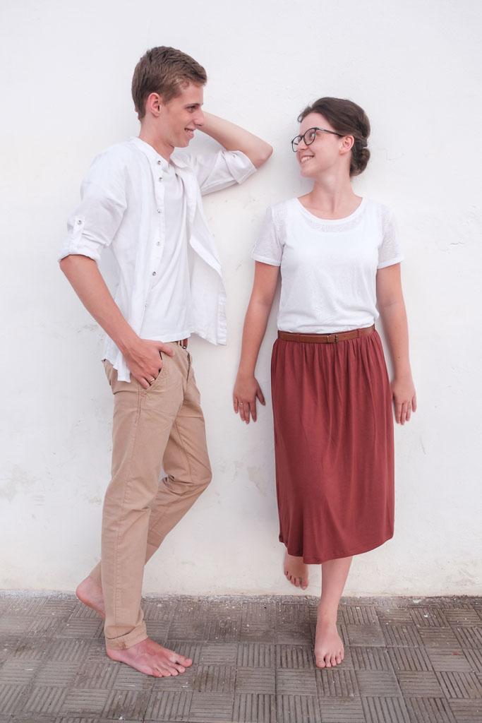 Hübsches Hochzeitspaar beim Afterwedding Fotoshooting mit Fotograf Ela und Chris auf Teneriffa und den Kanarischen Inseln