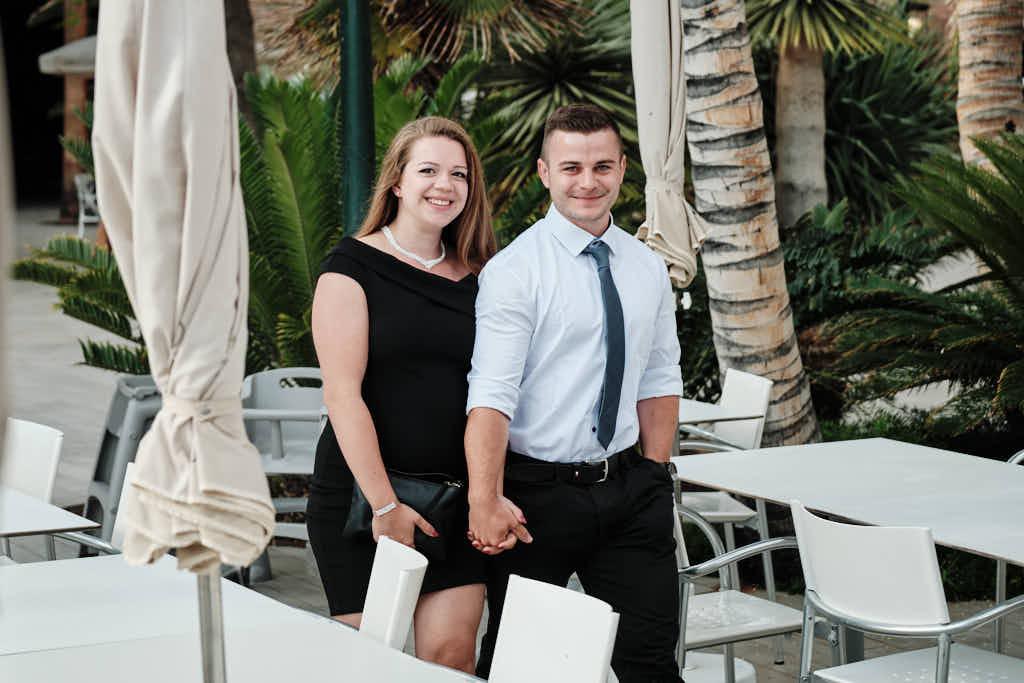 Das Paar ist auf dem Weg zum Heiratsantrag mit Deutscher Fotograf Ela und Chris