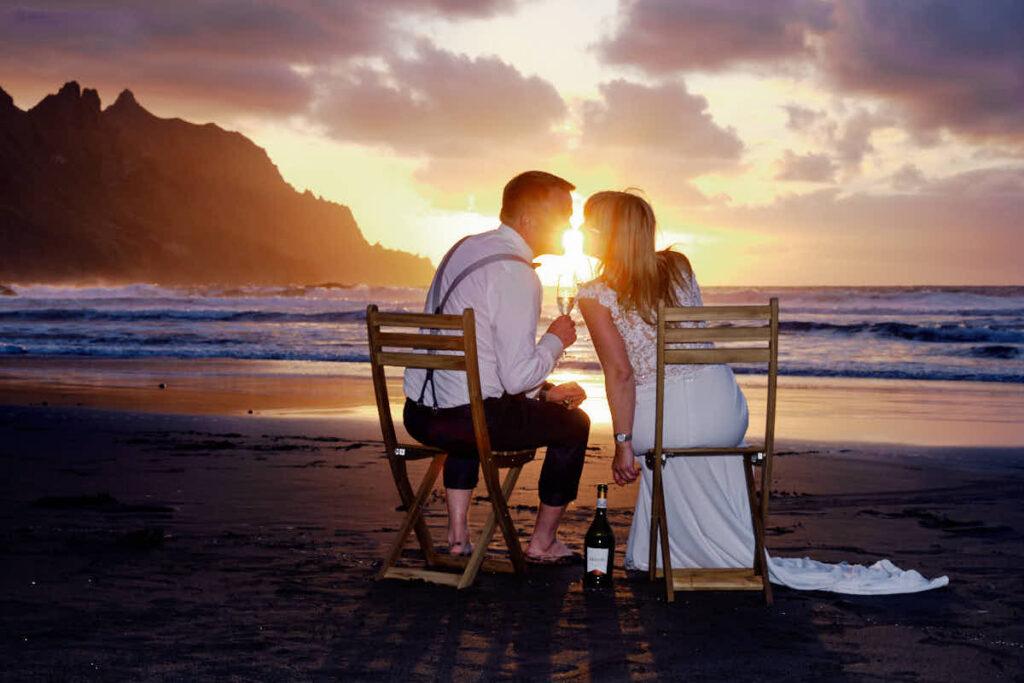Strand Afterwedding Hochzeitsreise Fotograf Ela und Chris Teneriffa