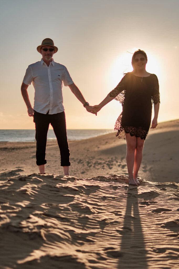 Paar Bilder fotografiert Deutscher Fotograf Ela & Chris beim Fotoshooting auf Gran Canaria in Maspalomas in den Dünen und an der Küste
